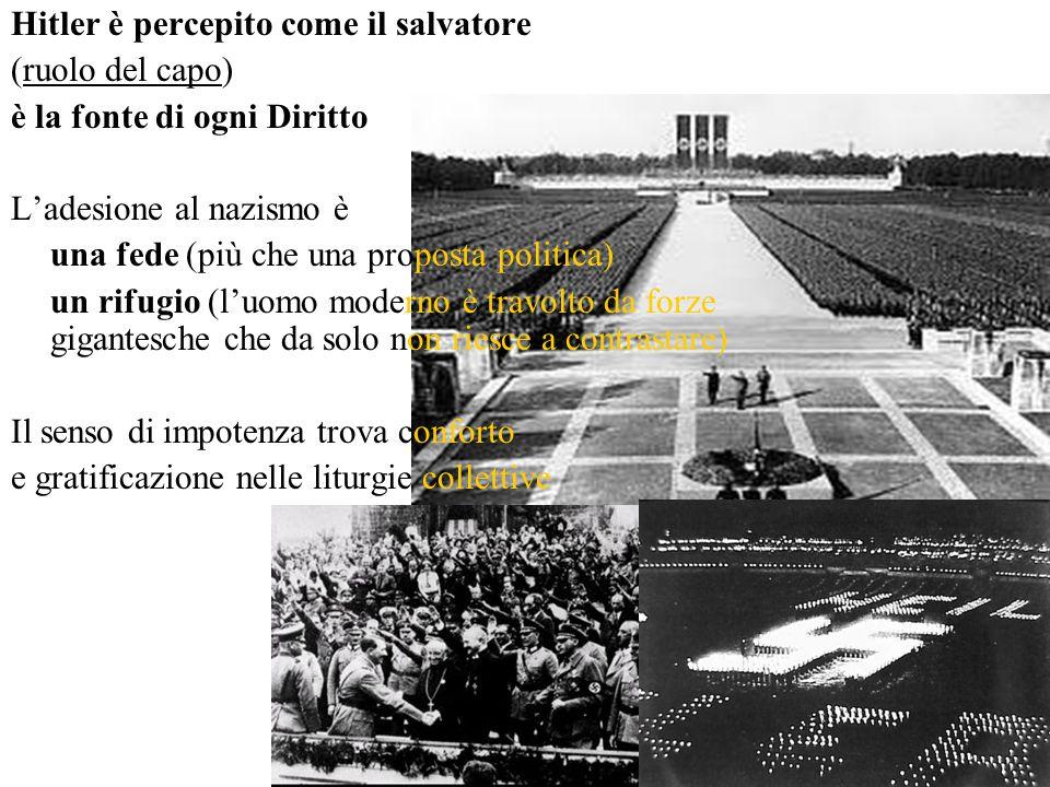 Hitler è percepito come il salvatore