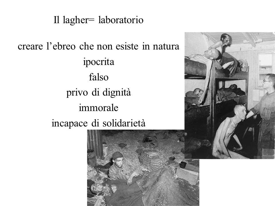 Il lagher= laboratorio creare l'ebreo che non esiste in natura