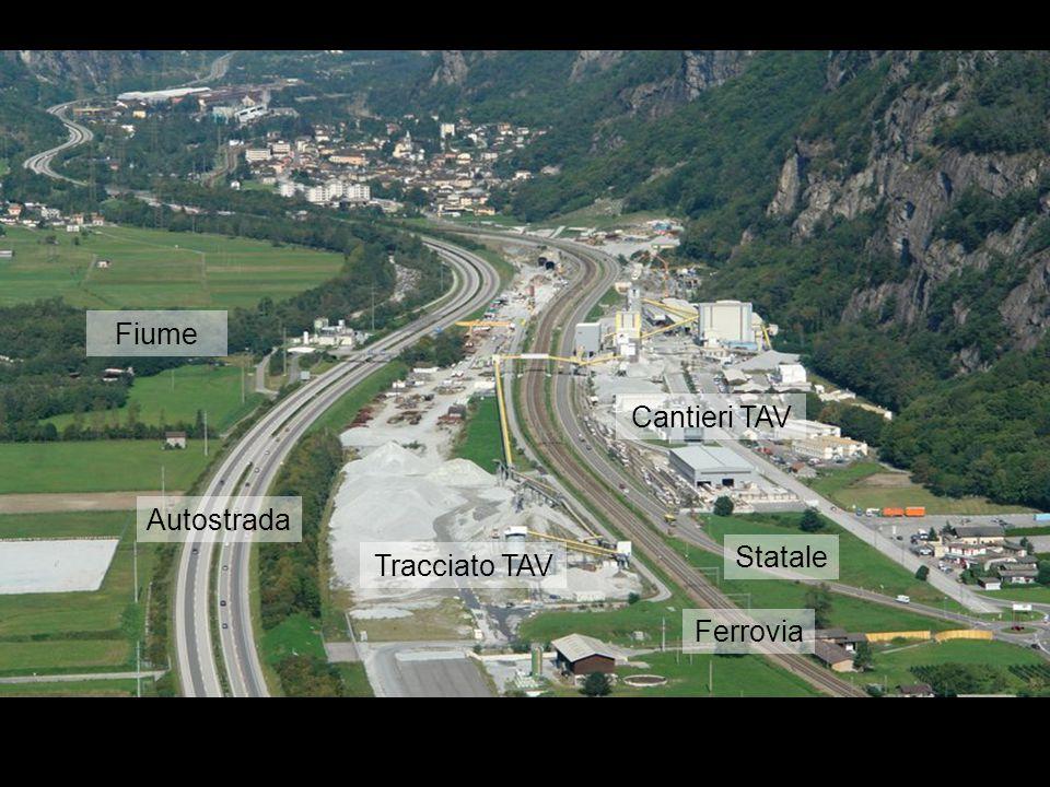 Fiume Cantieri TAV Autostrada Statale Tracciato TAV Ferrovia