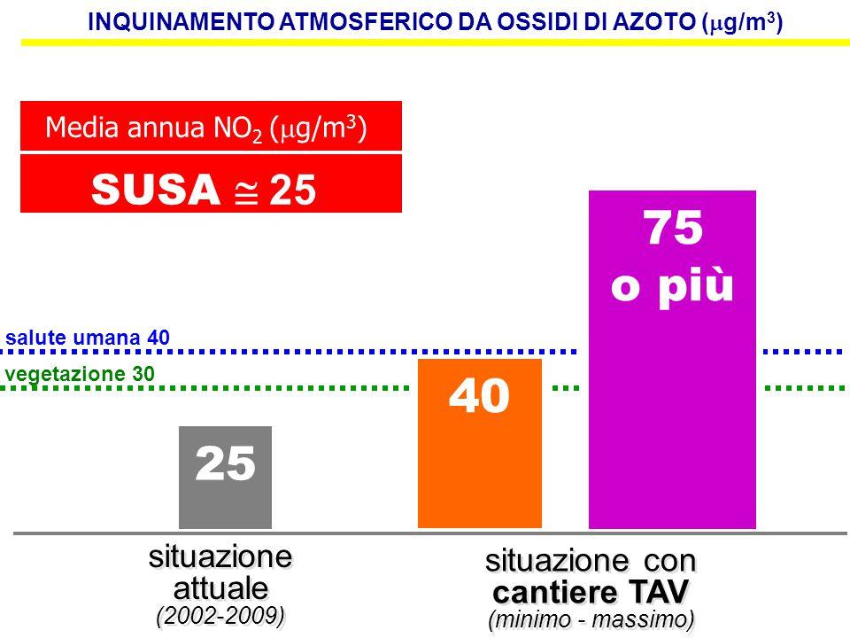 INQUINAMENTO ATMOSFERICO DA OSSIDI DI AZOTO (g/m3)