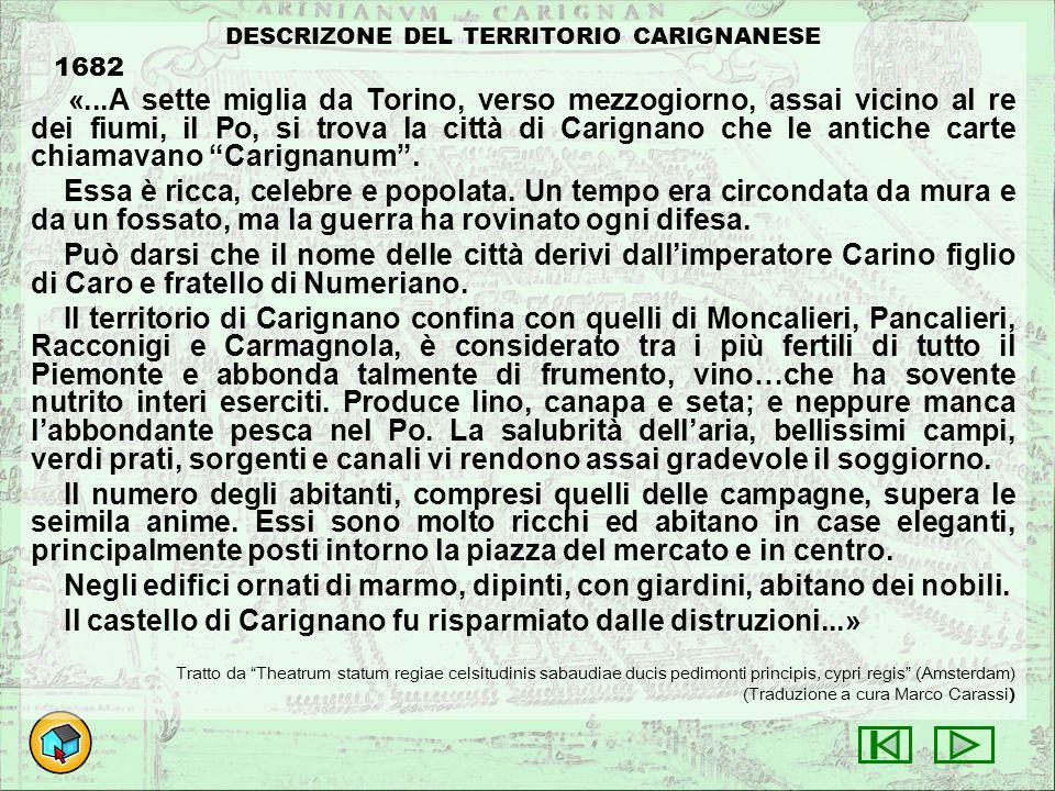 DESCRIZONE DEL TERRITORIO CARIGNANESE