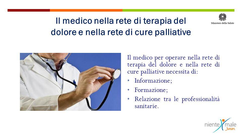 Il medico nella rete di terapia del dolore e nella rete di cure palliative