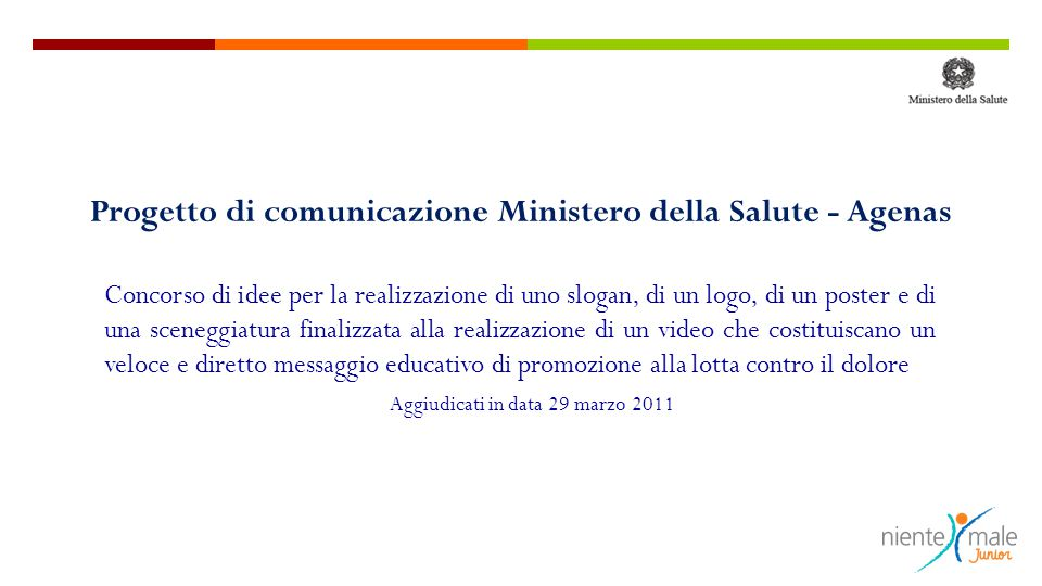 Progetto di comunicazione Ministero della Salute - Agenas