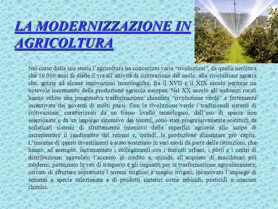 LA MODERNIZZAZIONE IN AGRICOLTURA