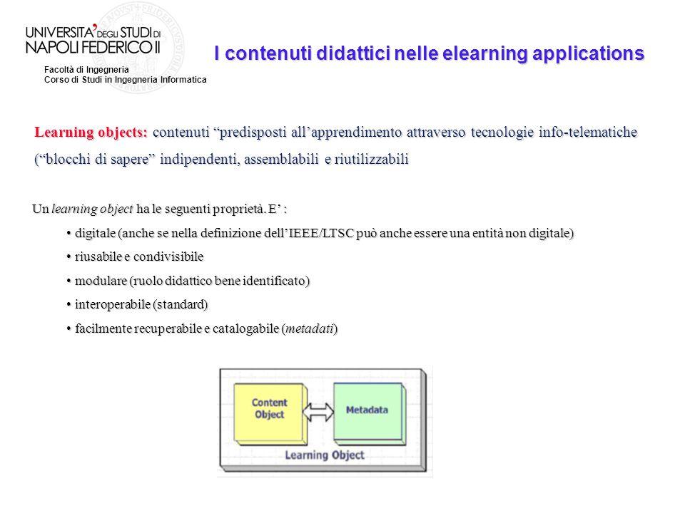 I contenuti didattici nelle elearning applications