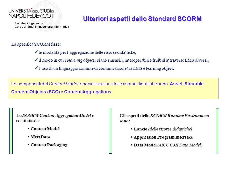 Ulteriori aspetti dello Standard SCORM