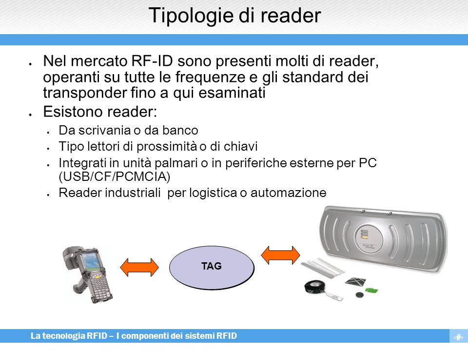 Tipologie di reader