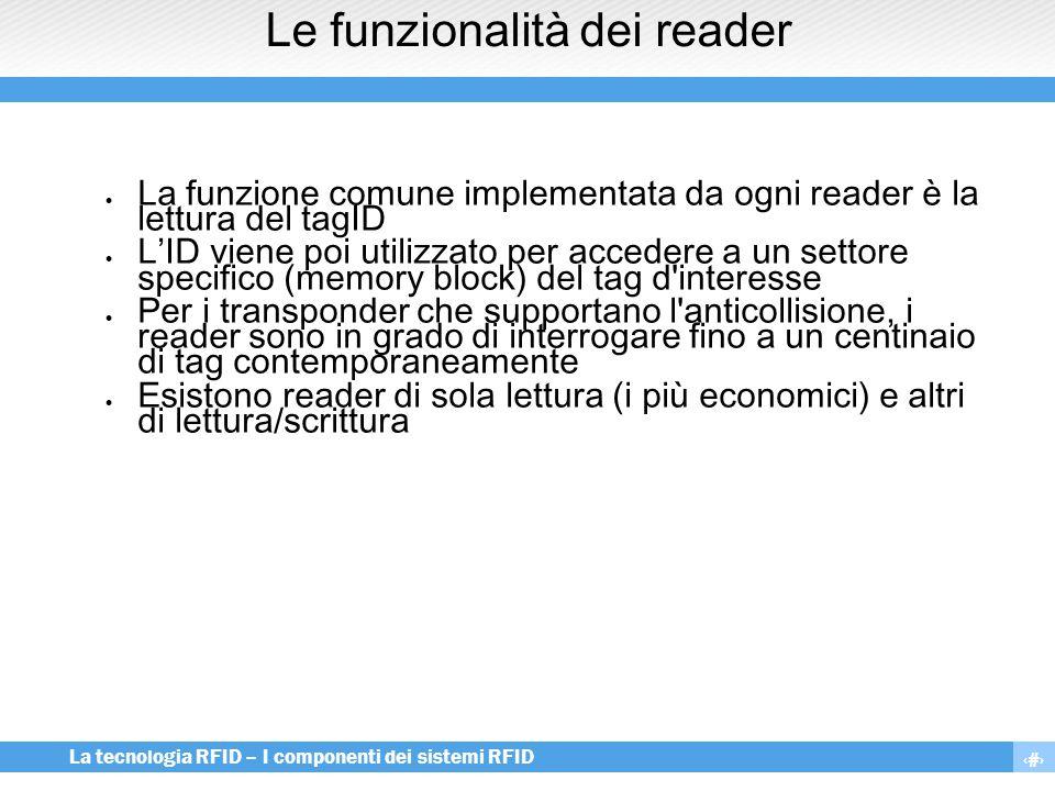 Le funzionalità dei reader