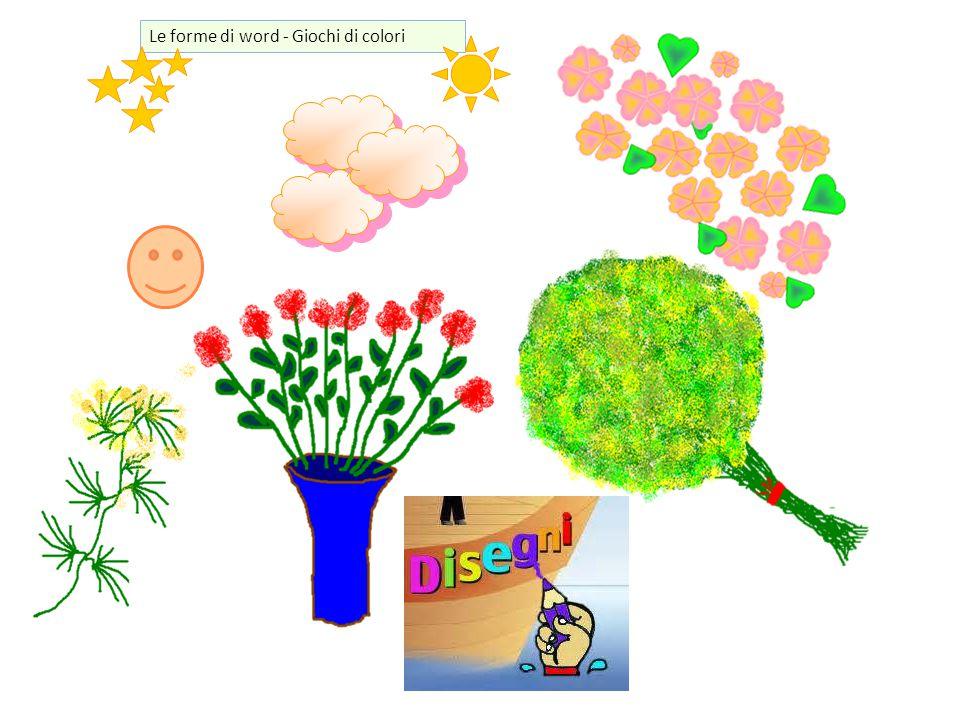 Le forme di word - Giochi di colori