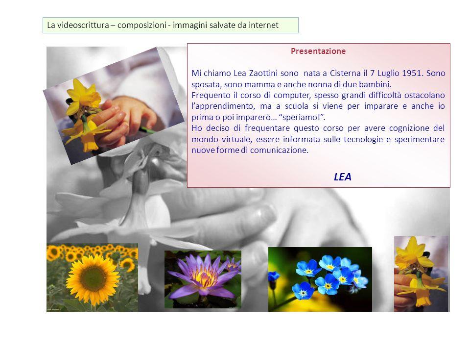 LEA La videoscrittura – composizioni - immagini salvate da internet