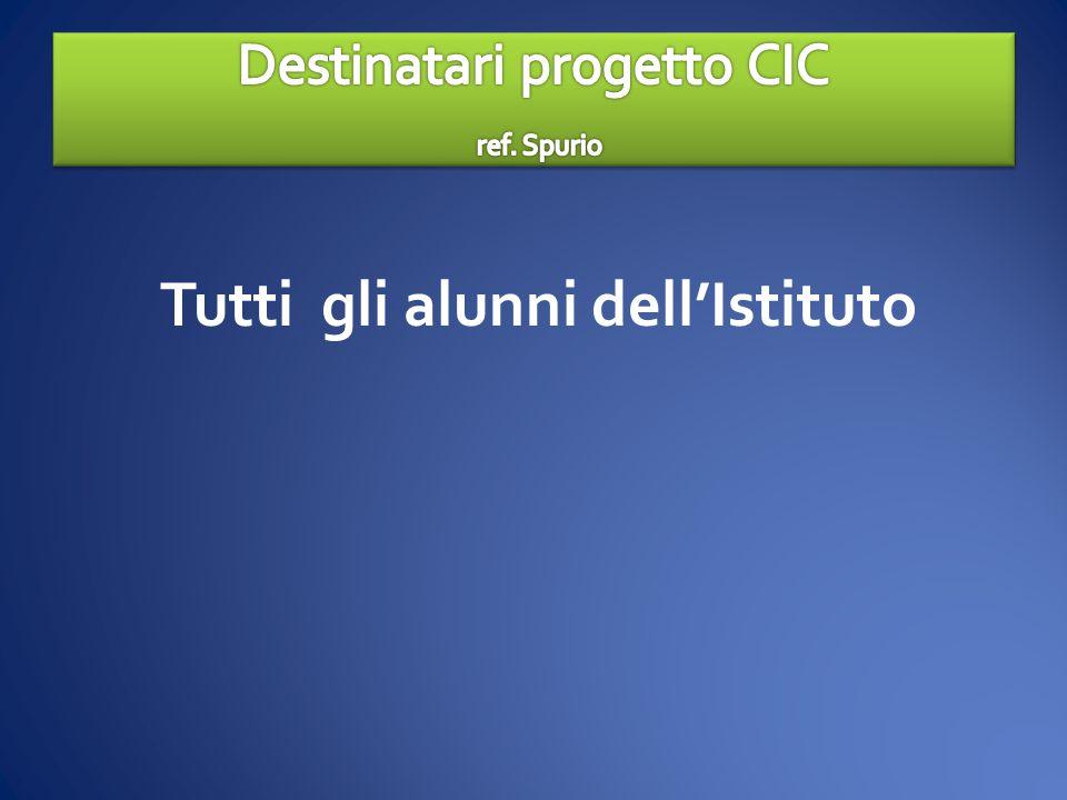 Destinatari progetto CIC ref. Spurio