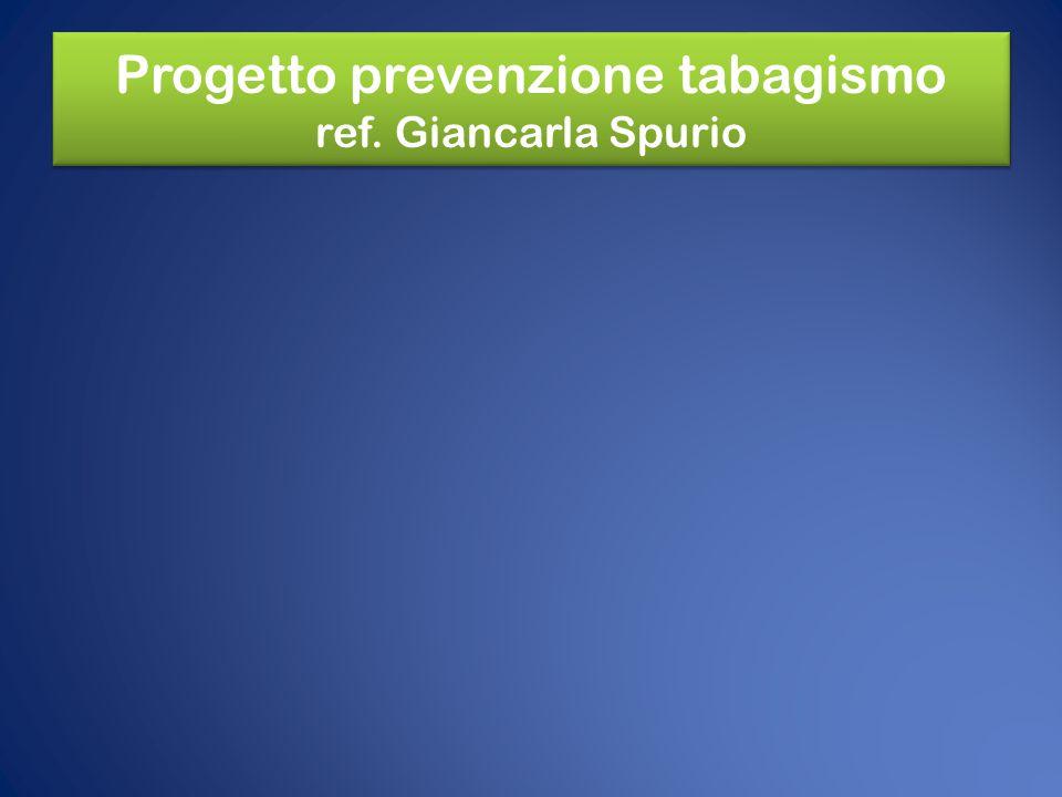 Progetto prevenzione tabagismo ref. Giancarla Spurio