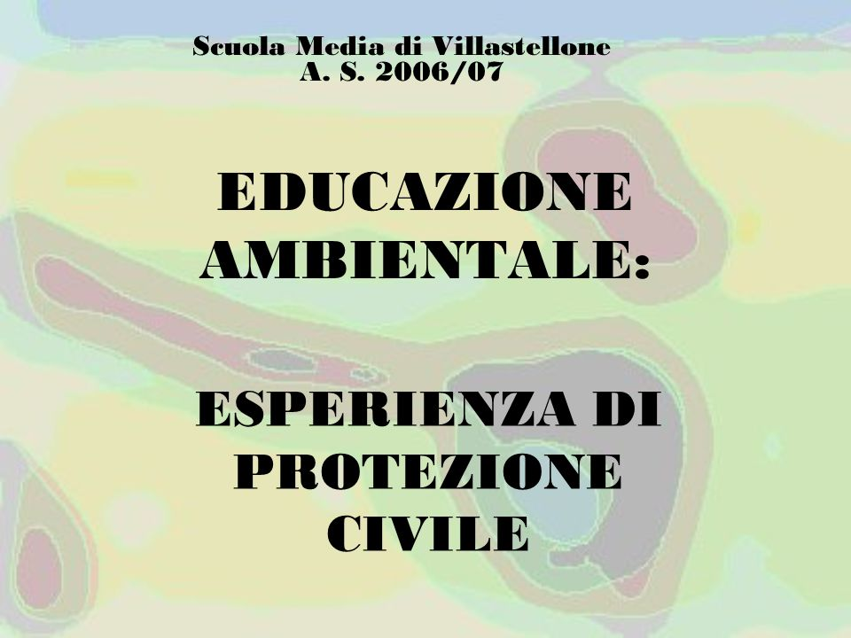 EDUCAZIONE AMBIENTALE: