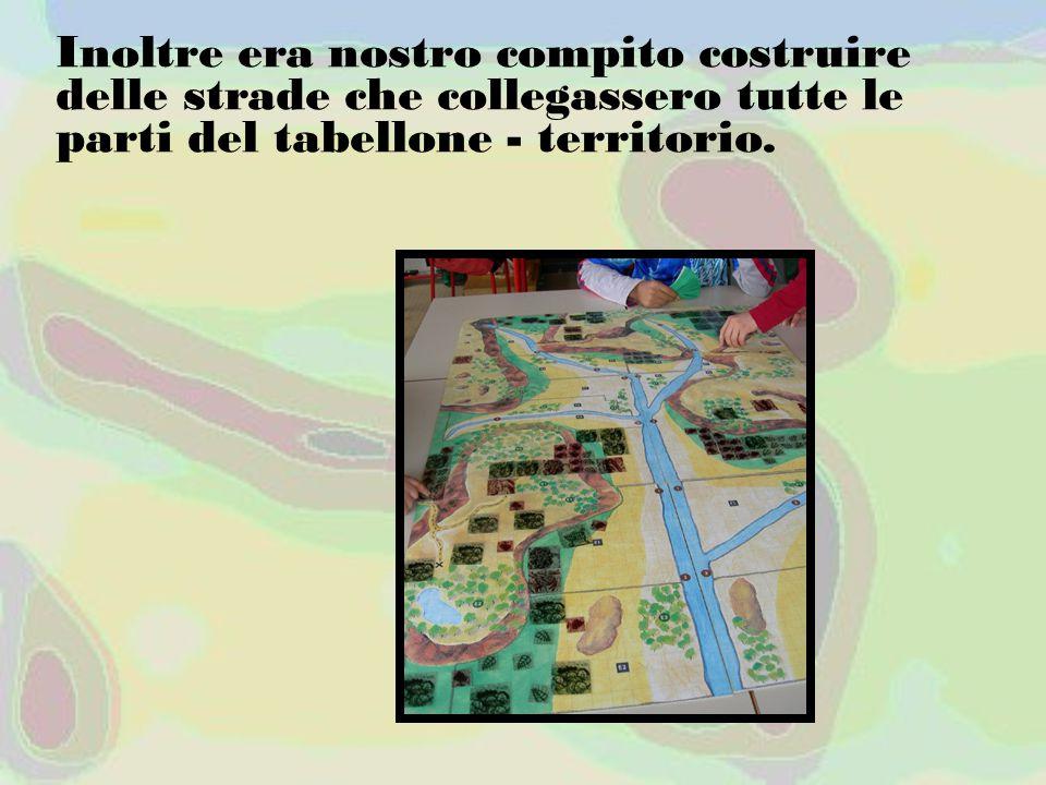 Inoltre era nostro compito costruire delle strade che collegassero tutte le parti del tabellone - territorio.