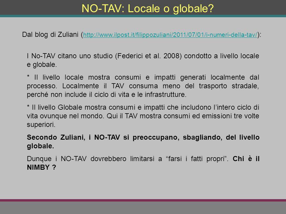 NO-TAV: Locale o globale