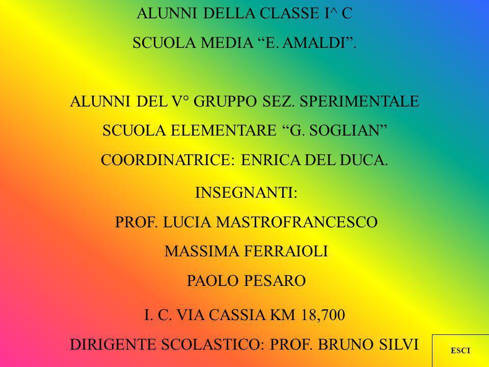 ALUNNI DELLA CLASSE I^ C SCUOLA MEDIA E. AMALDI .