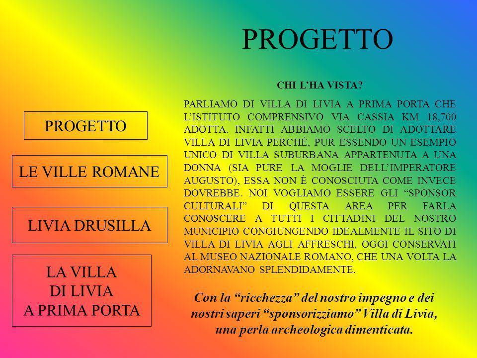 PROGETTO PROGETTO LE VILLE ROMANE LIVIA DRUSILLA LA VILLA DI LIVIA