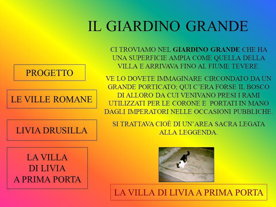 IL GIARDINO GRANDE PROGETTO LE VILLE ROMANE LIVIA DRUSILLA LA VILLA