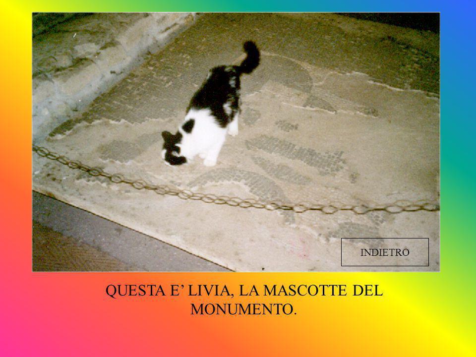 QUESTA E' LIVIA, LA MASCOTTE DEL MONUMENTO.