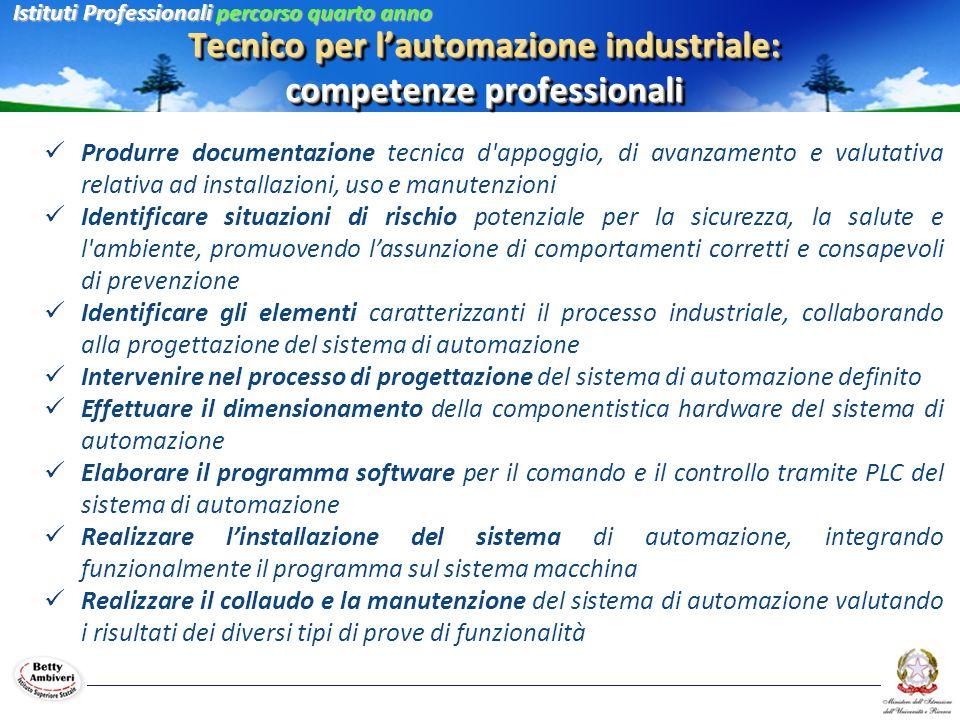 Tecnico per l'automazione industriale: competenze professionali