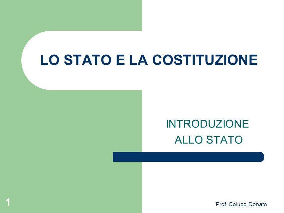 LO STATO E LA COSTITUZIONE