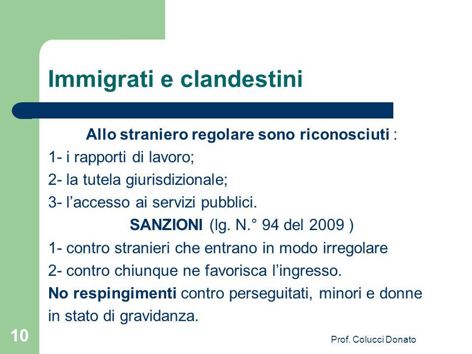 Immigrati e clandestini