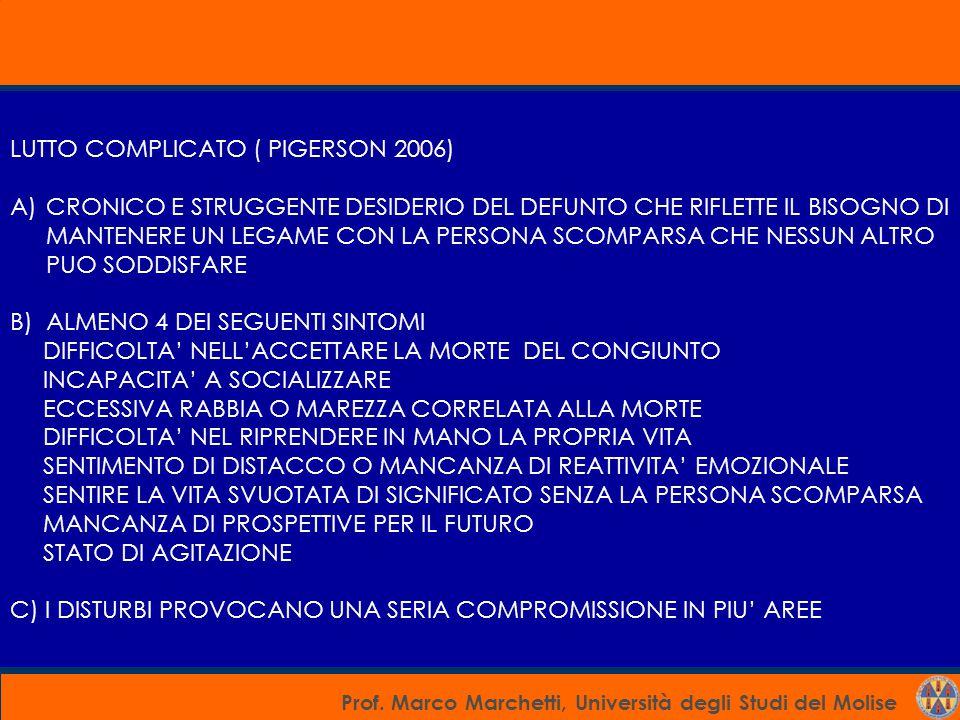 LUTTO COMPLICATO ( PIGERSON 2006)