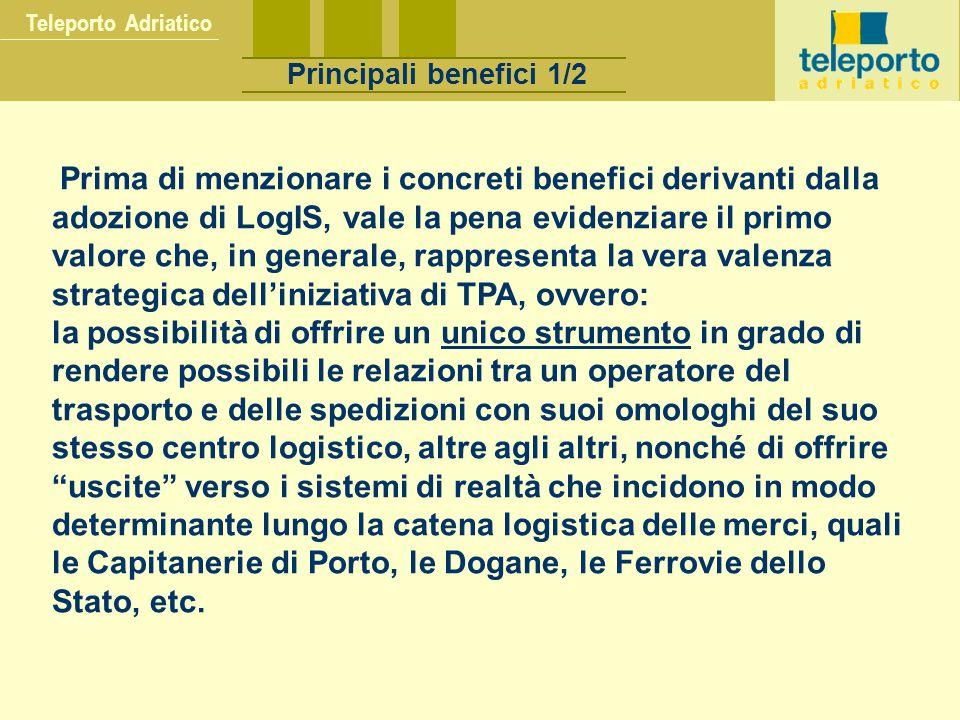 Teleporto Adriatico Principali benefici 1/2.