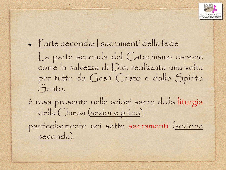 Parte seconda: I sacramenti della fede