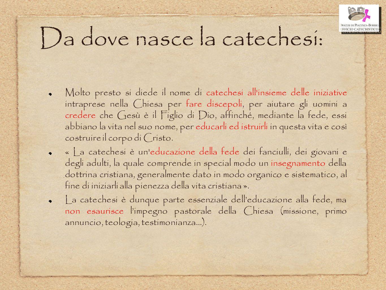 Da dove nasce la catechesi: