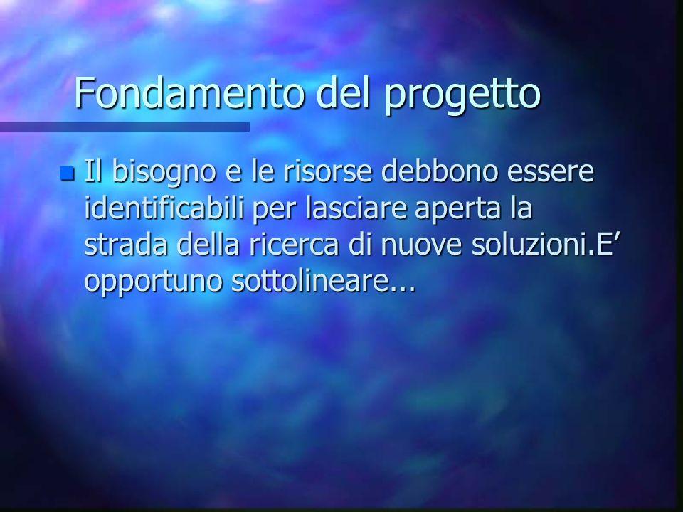 Fondamento del progetto