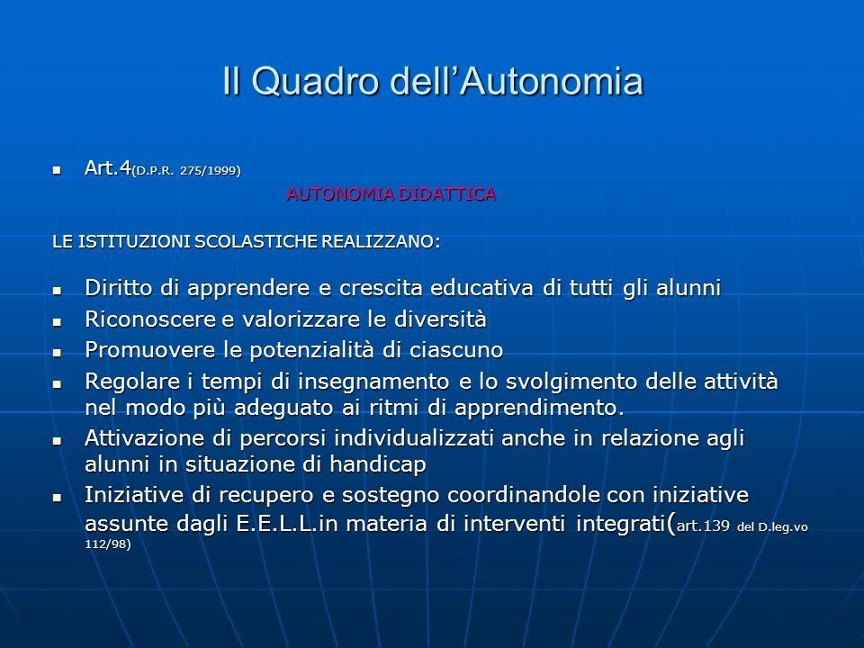 Il Quadro dell'Autonomia