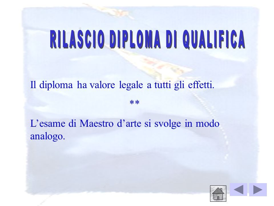 RILASCIO DIPLOMA DI QUALIFICA