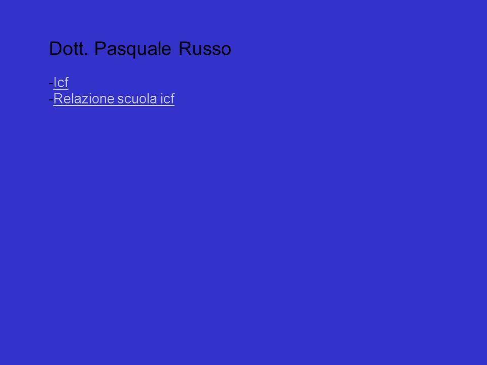 Dott. Pasquale Russo Icf Relazione scuola icf