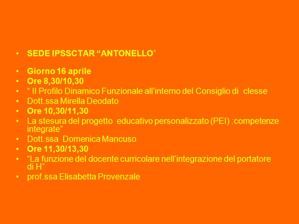 SEDE IPSSCTAR ANTONELLO