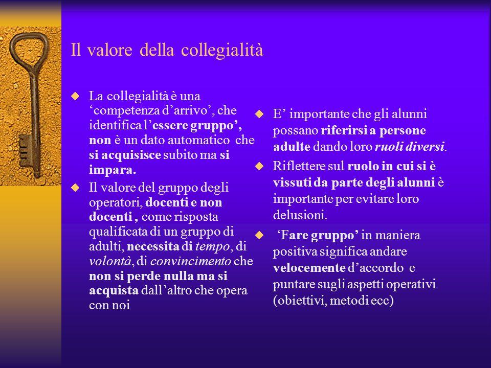 Il valore della collegialità
