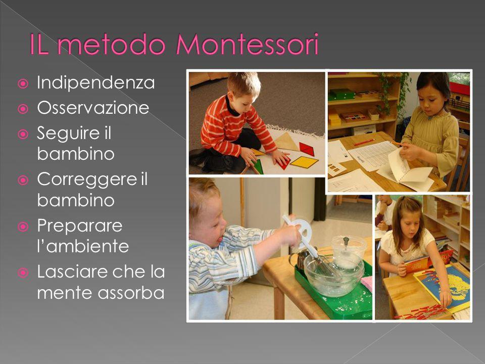 IL metodo Montessori Indipendenza Osservazione Seguire il bambino