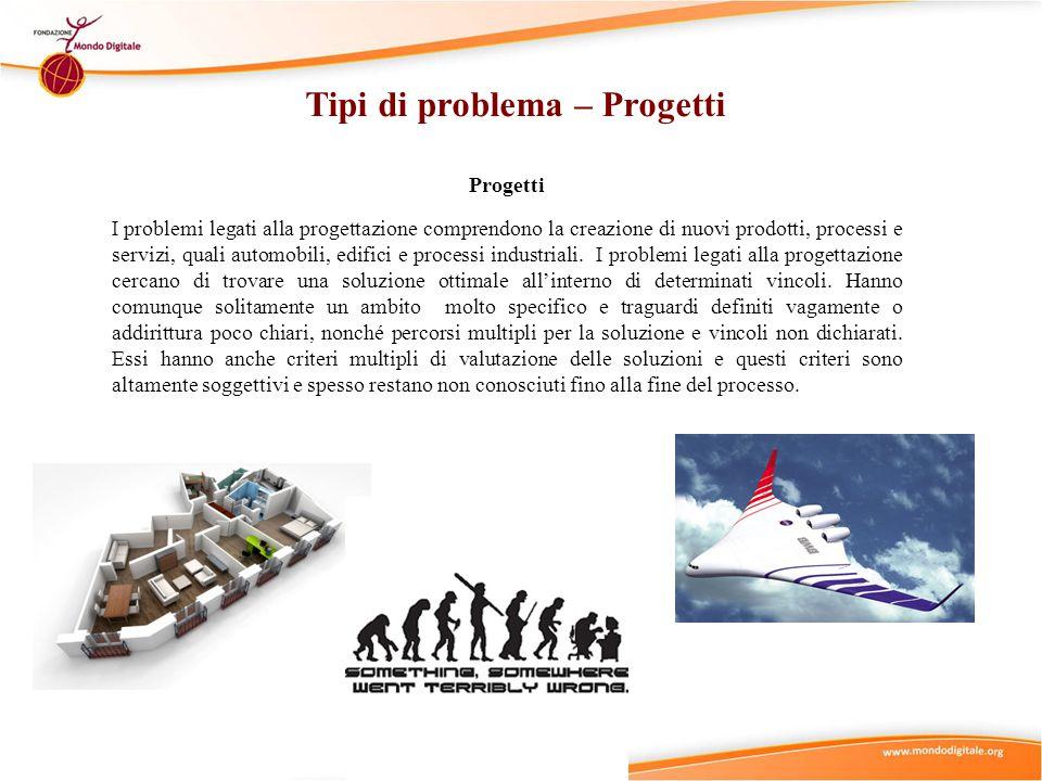 Tipi di problema – Progetti