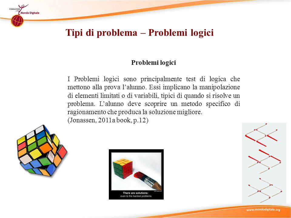 Tipi di problema – Problemi logici