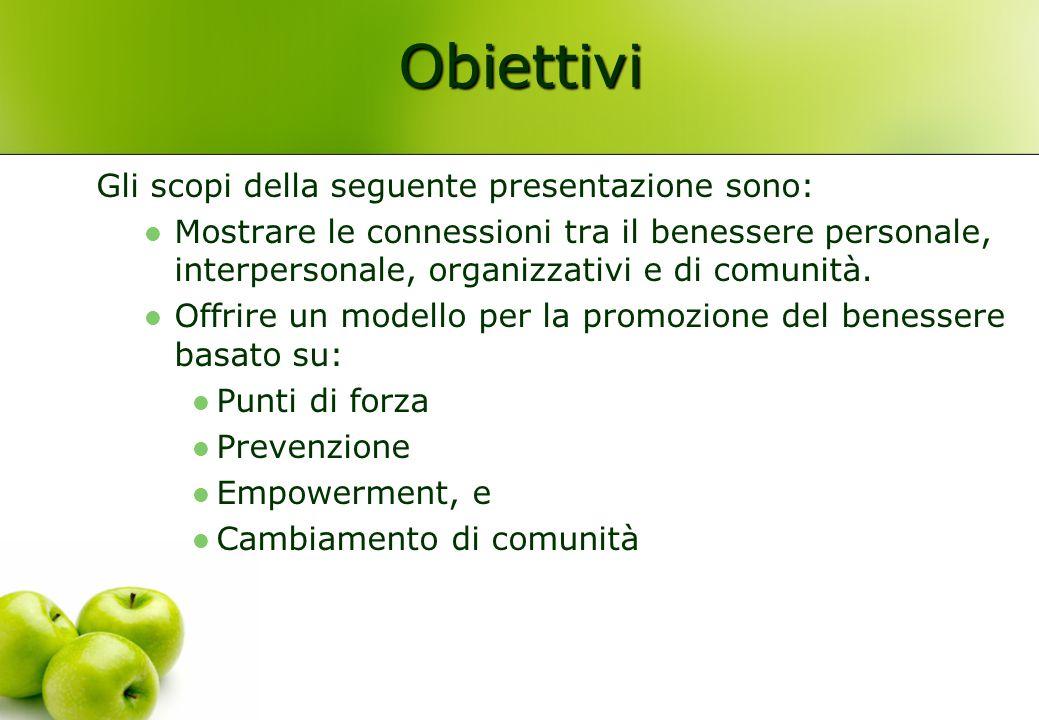 Obiettivi Gli scopi della seguente presentazione sono: