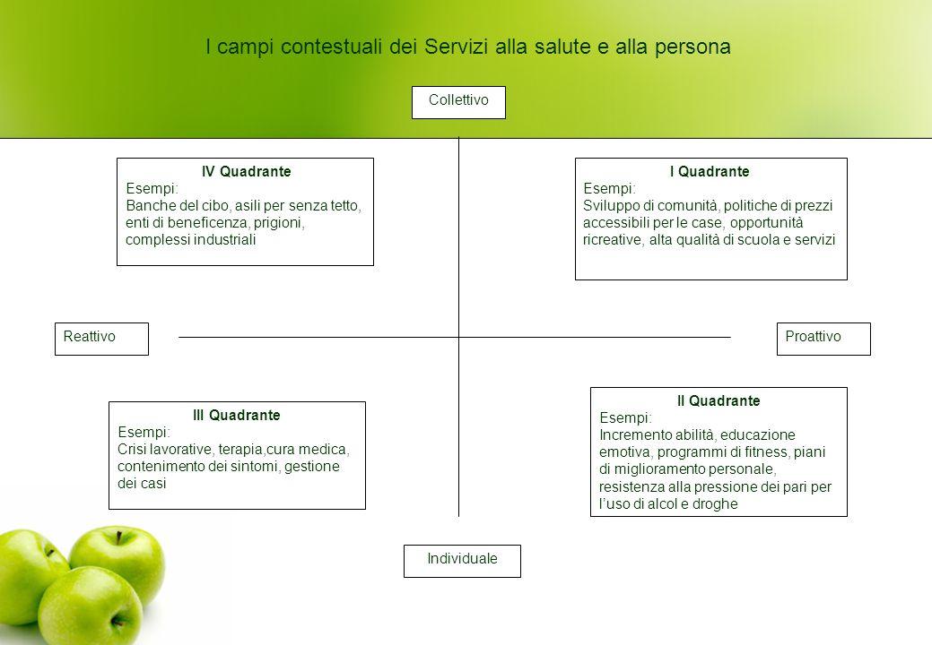 I campi contestuali dei Servizi alla salute e alla persona