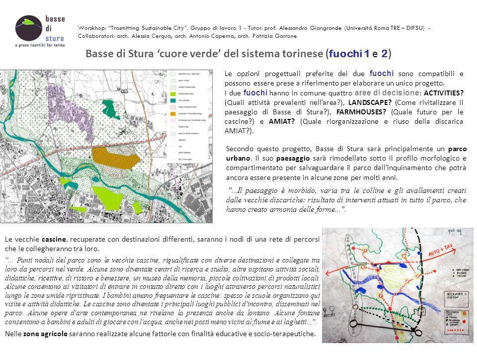 Basse di Stura 'cuore verde' del sistema torinese (fuochi 1 e 2)