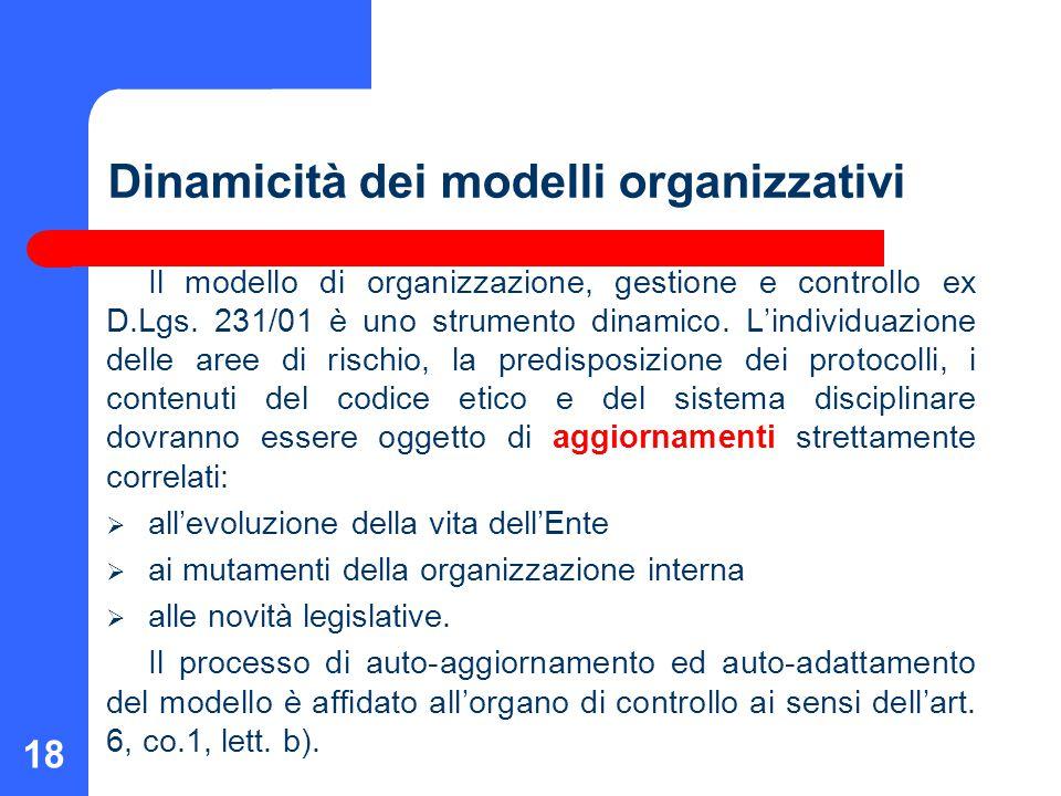 Dinamicità dei modelli organizzativi