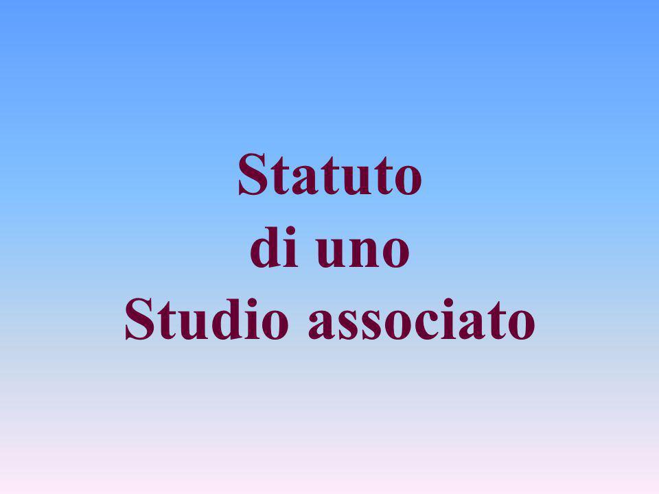 Statuto di uno Studio associato