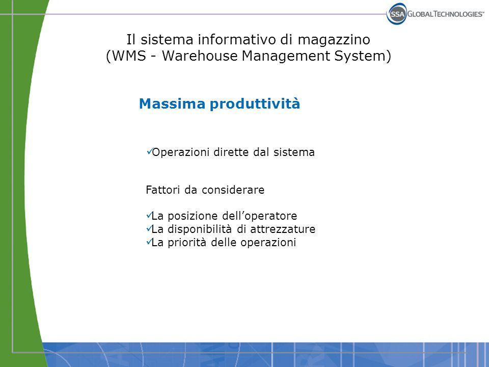 Massima produttività Operazioni dirette dal sistema