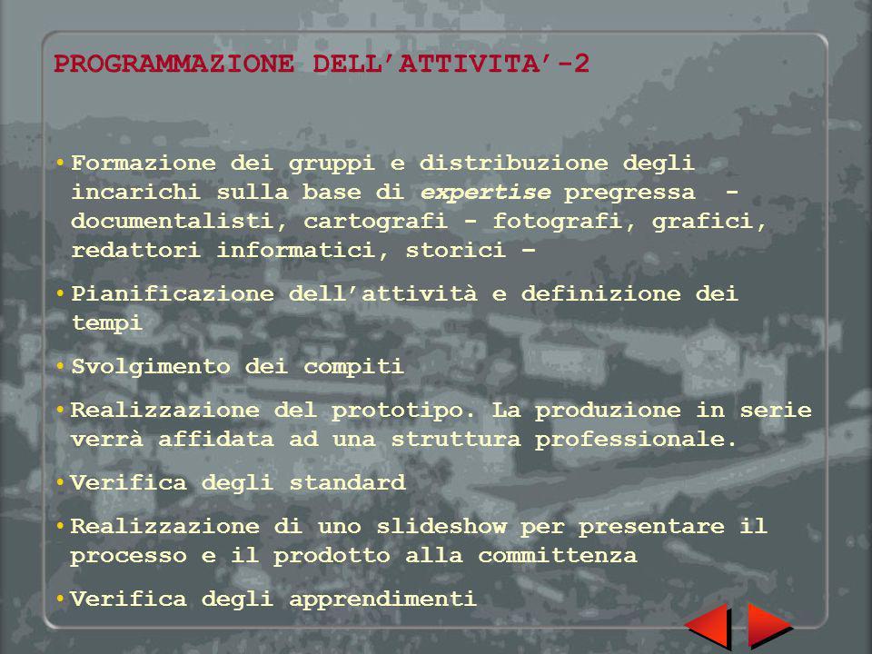 PROGRAMMAZIONE DELL'ATTIVITA'-2