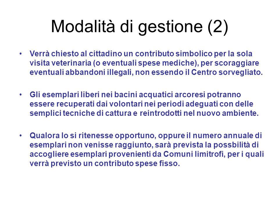 Modalità di gestione (2)