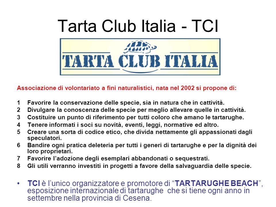 Tarta Club Italia - TCI Associazione di volontariato a fini naturalistici, nata nel 2002 si propone di: