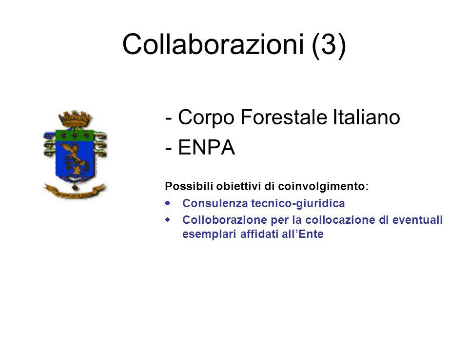 Collaborazioni (3) - Corpo Forestale Italiano - ENPA
