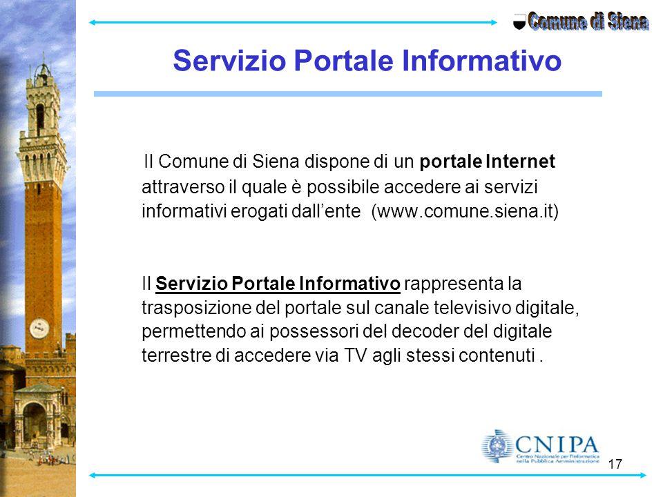 Comune di Siena Servizio Portale Informativo